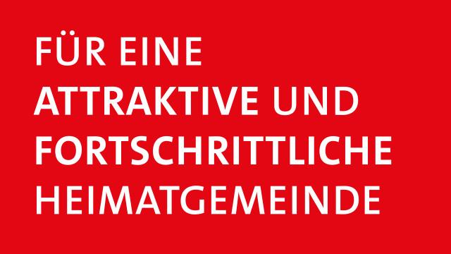 """Kampagnenbild """"Für eine attraktive und fortschrittliche Heimatgemeinde"""""""
